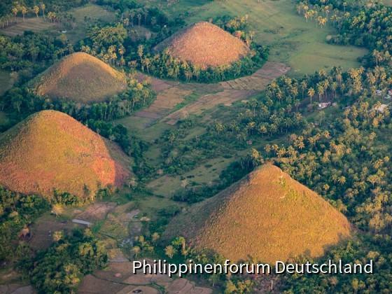 Chocolate Hills from Hot Air Ballon